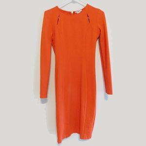 Bar III Fitted Cut Out Long Sleeve Dress